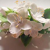 Украшения ручной работы. Ярмарка Мастеров - ручная работа Заколка Цветы яблони. Handmade.