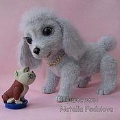 Куклы и игрушки handmade. Livemaster - original item Dog poodle Candy toy knitted. Handmade.