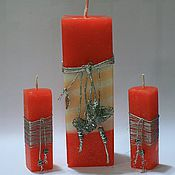 """Свадебный салон ручной работы. Ярмарка Мастеров - ручная работа Свадебные свечи """"Сладкая жизнь"""". Handmade."""