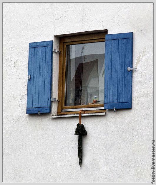 Фотокартины ручной работы. Ярмарка Мастеров - ручная работа. Купить После дождя. Handmade. Город, дома, окно, отражение, зонт