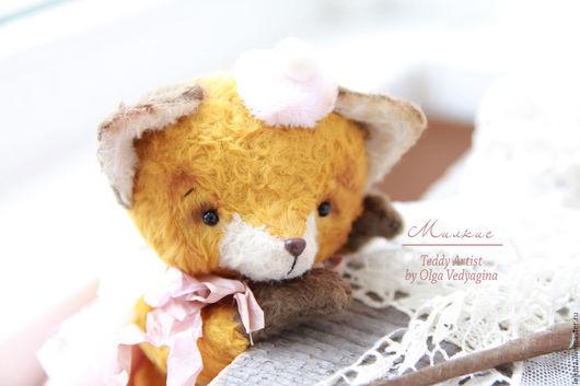 Мишки Тедди ручной работы. Ярмарка Мастеров - ручная работа. Купить лисёнок Милкис. Handmade. Лис, подарок, милый подарок