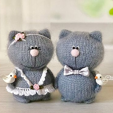 Куклы и игрушки ручной работы. Ярмарка Мастеров - ручная работа Свадебные киски. Handmade.