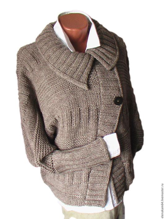 Кофты и свитера ручной работы. Ярмарка Мастеров - ручная работа. Купить кардиган вязаный. Handmade. Кардиган, бежевый цвет
