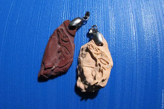 Кулон с рыбой. Подвеска с рыбкой. Натуральный природный камень.