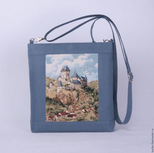 Женские сумки ручной работы. Ярмарка Мастеров - ручная работа. Купить «Старый замок» сумка планшет с гобеленовой вставкой (70м). Handmade.