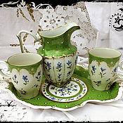 handmade. Livemaster - original item The painted porcelain.Set