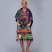 Одежда handmade. Livemaster - original item Ethnic poncho
