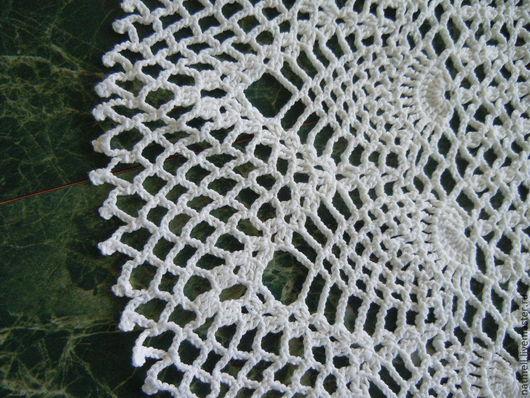 Текстиль, ковры ручной работы. Ярмарка Мастеров - ручная работа. Купить Салфетка крючком. Handmade. Белый, круглая скатерть