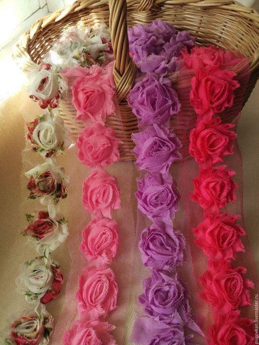 Шитье ручной работы. Ярмарка Мастеров - ручная работа. Купить Трехмерные розы Шебби Шик 4 см  № 5-8. Handmade.