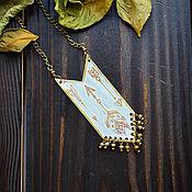 Украшения handmade. Livemaster - original item Boho Arrow pendant brass geometric pendant White Sagittarius. Handmade.