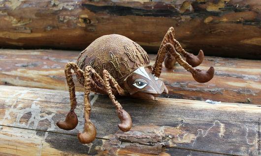 Ароматизированные куклы ручной работы. Ярмарка Мастеров - ручная работа. Купить Паучок текстильный интерьерный. Handmade. Коричневый, ароматизированная игрушка