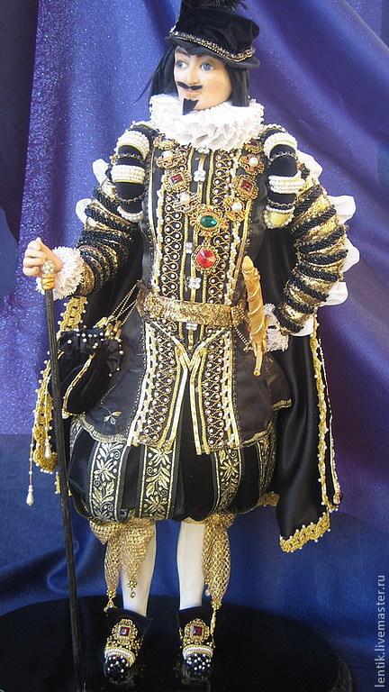 Коллекционные куклы ручной работы. Ярмарка Мастеров - ручная работа. Купить Испанский гранд. Handmade. Куклы, исторический костюм, бархат