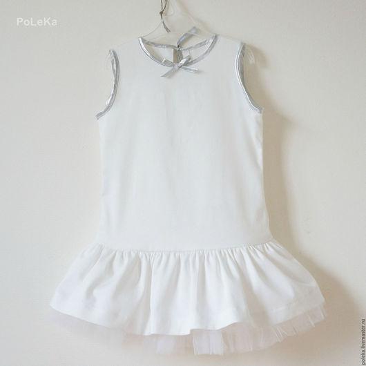 Одежда для девочек, ручной работы. Ярмарка Мастеров - ручная работа. Купить Платье для девочки белое. Handmade. Платье для малышки, однотонный
