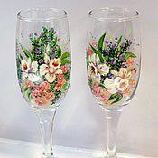 Посуда ручной работы. Ярмарка Мастеров - ручная работа Букет с лилиями. Handmade.