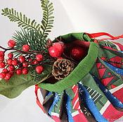"""Подарки к праздникам ручной работы. Ярмарка Мастеров - ручная работа Текстиль """"Новогодний"""". Handmade."""