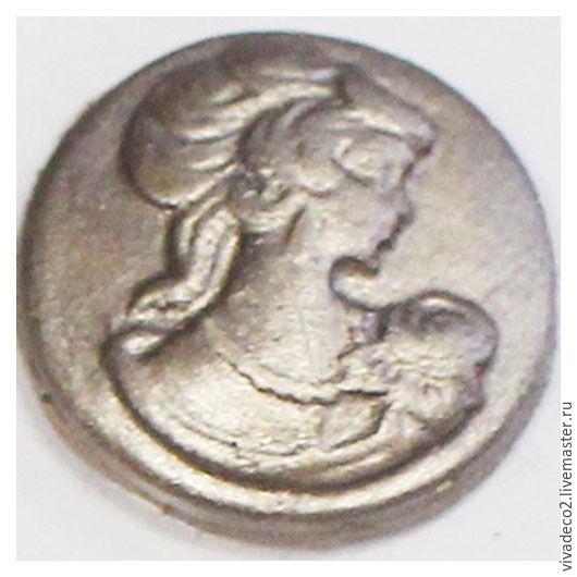 Краска акриловая эффект золочения 70мл 113-113 Серебро античное  2/0 113-105 антрацит 2/0