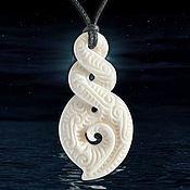 Украшения handmade. Livemaster - original item Double helix Pikuroa symbol Maori. Handmade.