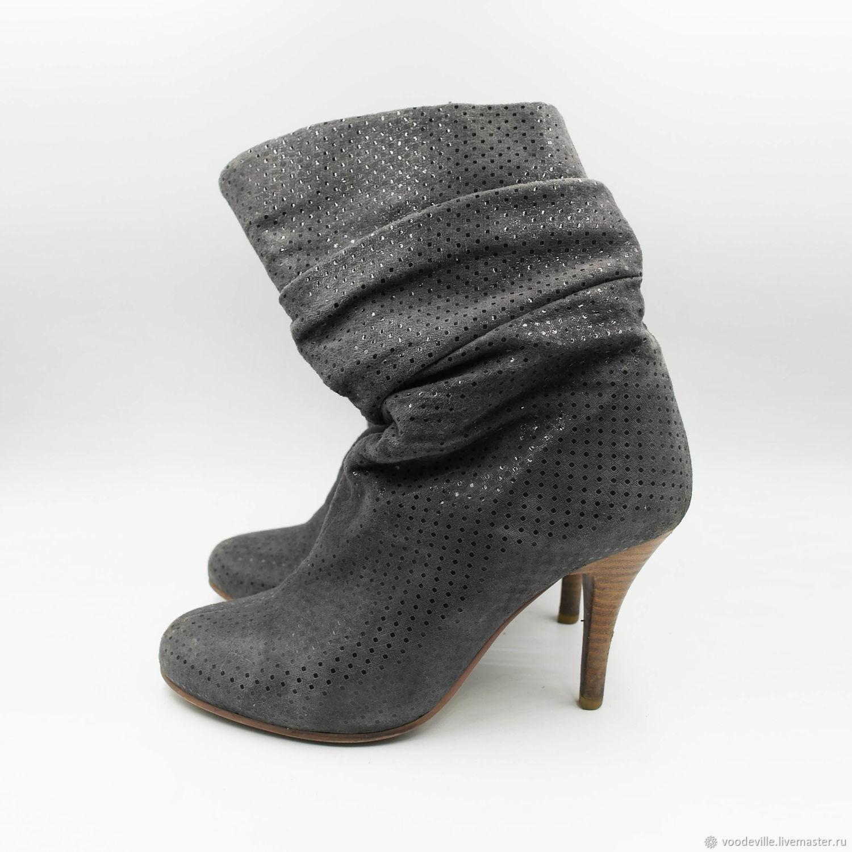 a760607c5 Винтажная обувь. Ярмарка Мастеров - ручная работа. Купить Винтаж: Сапожки  серые семисезонные.