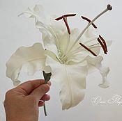 Цветы и флористика ручной работы. Ярмарка Мастеров - ручная работа Королевская лилия из шелка. Handmade.