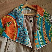 Одежда ручной работы. Ярмарка Мастеров - ручная работа Африка на воротнике. Handmade.