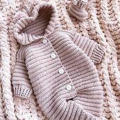 Работы для детей, handmade. Livemaster - original item Baby jumpsuit on discharge