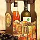 """Корзины, коробы ручной работы. Ярмарка Мастеров - ручная работа. Купить Короб для вина """"Ночное кафе"""".. Handmade. Короб для вина"""