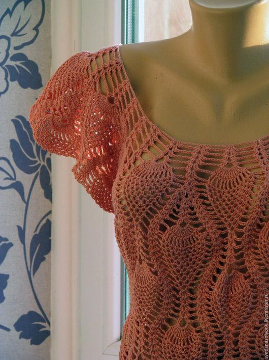 """Платья ручной работы. Ярмарка Мастеров - ручная работа. Купить Платье """"Марина"""". Handmade. Коралловый, ананас, платье для дружки, пряжа"""