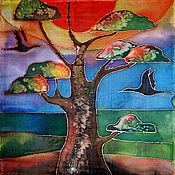 Картины и панно ручной работы. Ярмарка Мастеров - ручная работа Батик Африка. Текстильное панно.. Handmade.