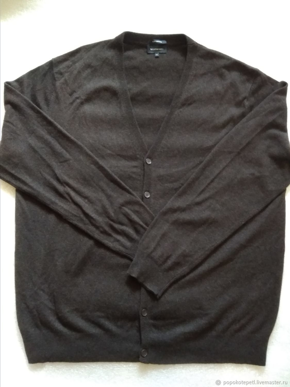 Men's cardigan, 100 % cashmere, vintage Germany, Vintage clothing, Novorossiysk,  Фото №1