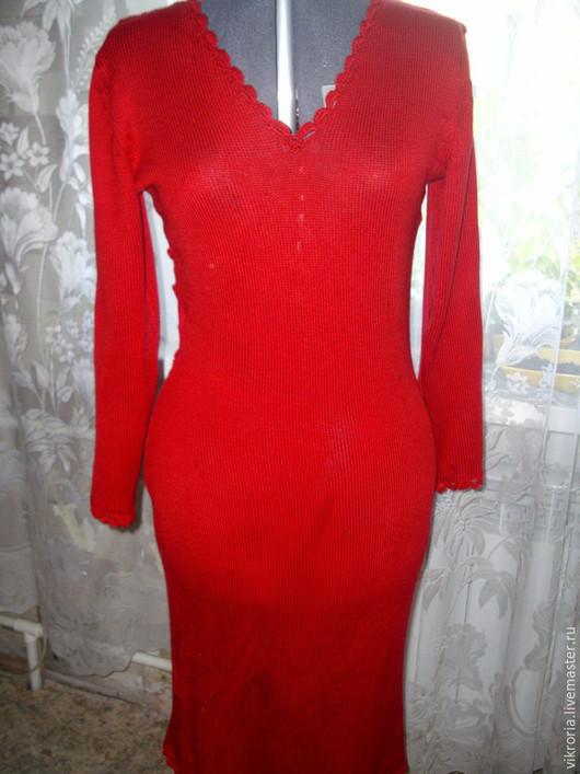 Платья ручной работы. Ярмарка Мастеров - ручная работа. Купить Платье с ажурной спиной. Handmade. Ярко-красный, Платье нарядное