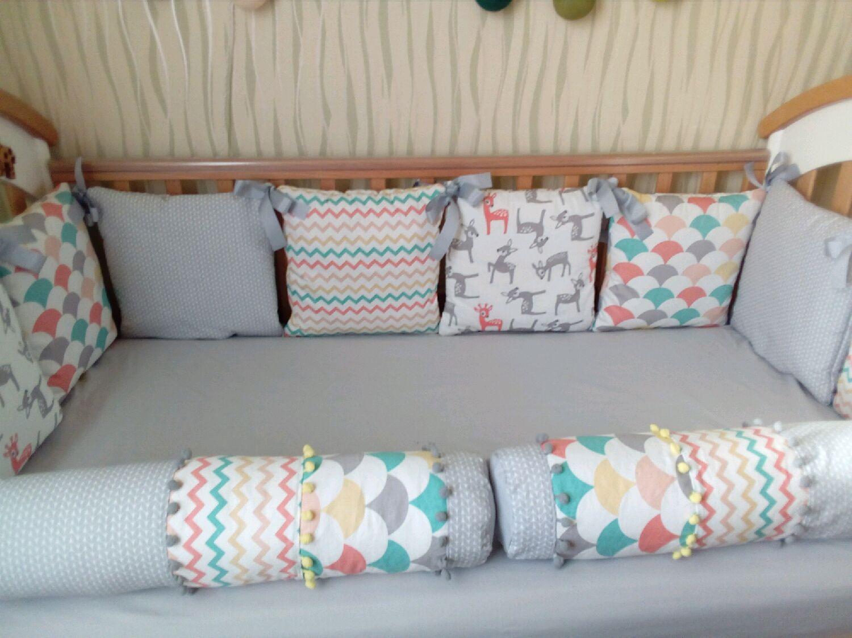 Бортики в детскую кроватку своими руками. Схемы, выбор материалов, пошив 81