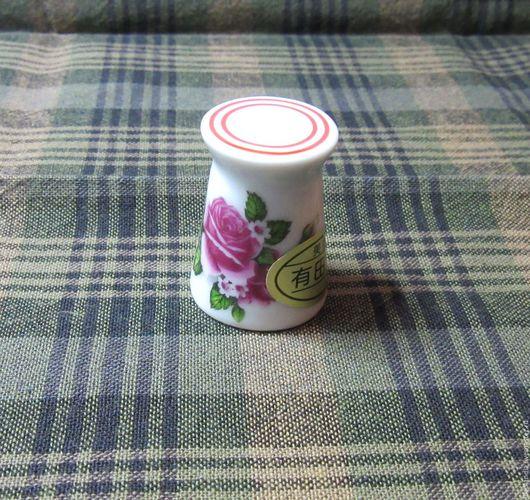 Шитье ручной работы. Ярмарка Мастеров - ручная работа. Купить Фарфоровый наперсток цветы. Handmade. Белый, Квилтинг и пэчворк, Нитки