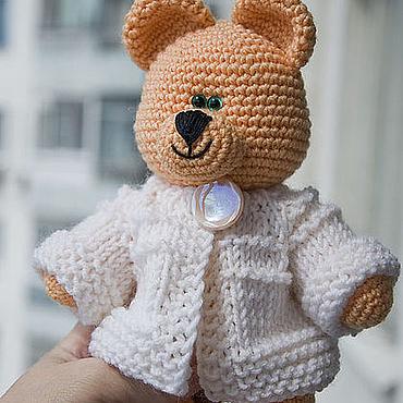 Куклы и игрушки ручной работы. Ярмарка Мастеров - ручная работа Медведь абрикосовый - вязаная игрушка. Усыновлен.. Handmade.