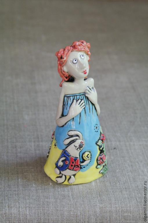 Куклы и игрушки ручной работы. Ярмарка Мастеров - ручная работа. Купить Алиса. Handmade. Разноцветный, белая глина, девочка, глазурь