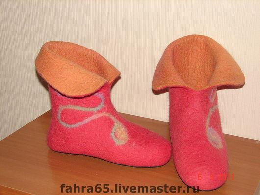 Обувь ручной работы. Ярмарка Мастеров - ручная работа. Купить Домашние валенки. Handmade. Домашняя обувь, подарок женщине