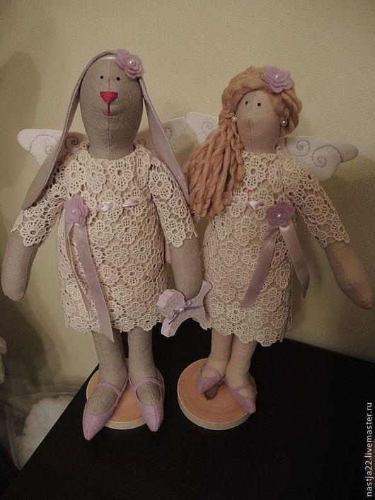 Куклы Тильды ручной работы. Ярмарка Мастеров - ручная работа. Купить Тильда ангел. Handmade. Тильда заяц, зайка тильда