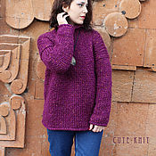 Одежда handmade. Livemaster - original item Women`s sweater chunky knit. Handmade.