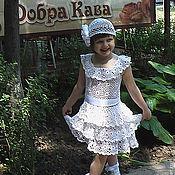 Работы для детей, ручной работы. Ярмарка Мастеров - ручная работа Платье для девочки  ОБОРКИ. Handmade.