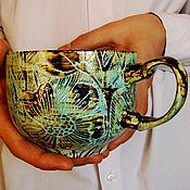 """Кружки ручной работы. Ярмарка Мастеров - ручная работа Чашка """"Нежность"""". Handmade."""