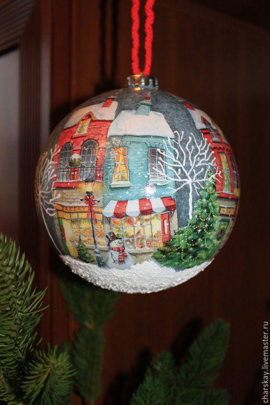 """Новый год 2017 ручной работы. Ярмарка Мастеров - ручная работа. Купить Новогодний шар """" Праздничная ночь"""". Handmade."""