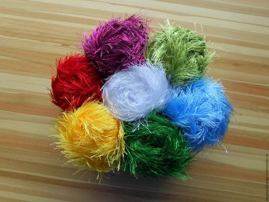 """Вязание ручной работы. Ярмарка Мастеров - ручная работа. Купить Пряжа """"Травка"""". Handmade. Голубой, нитки для вязания, для вязания крючком"""