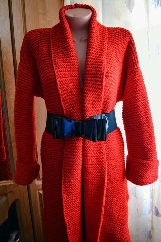 """Верхняя одежда ручной работы. Ярмарка Мастеров - ручная работа. Купить Пальто """"Яркая осень"""". Handmade. Пальто, кофта вязаная"""