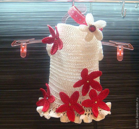 """Одежда для собак, ручной работы. Ярмарка Мастеров - ручная работа. Купить Летнее платье """"Ромашка"""". Handmade. Белый"""