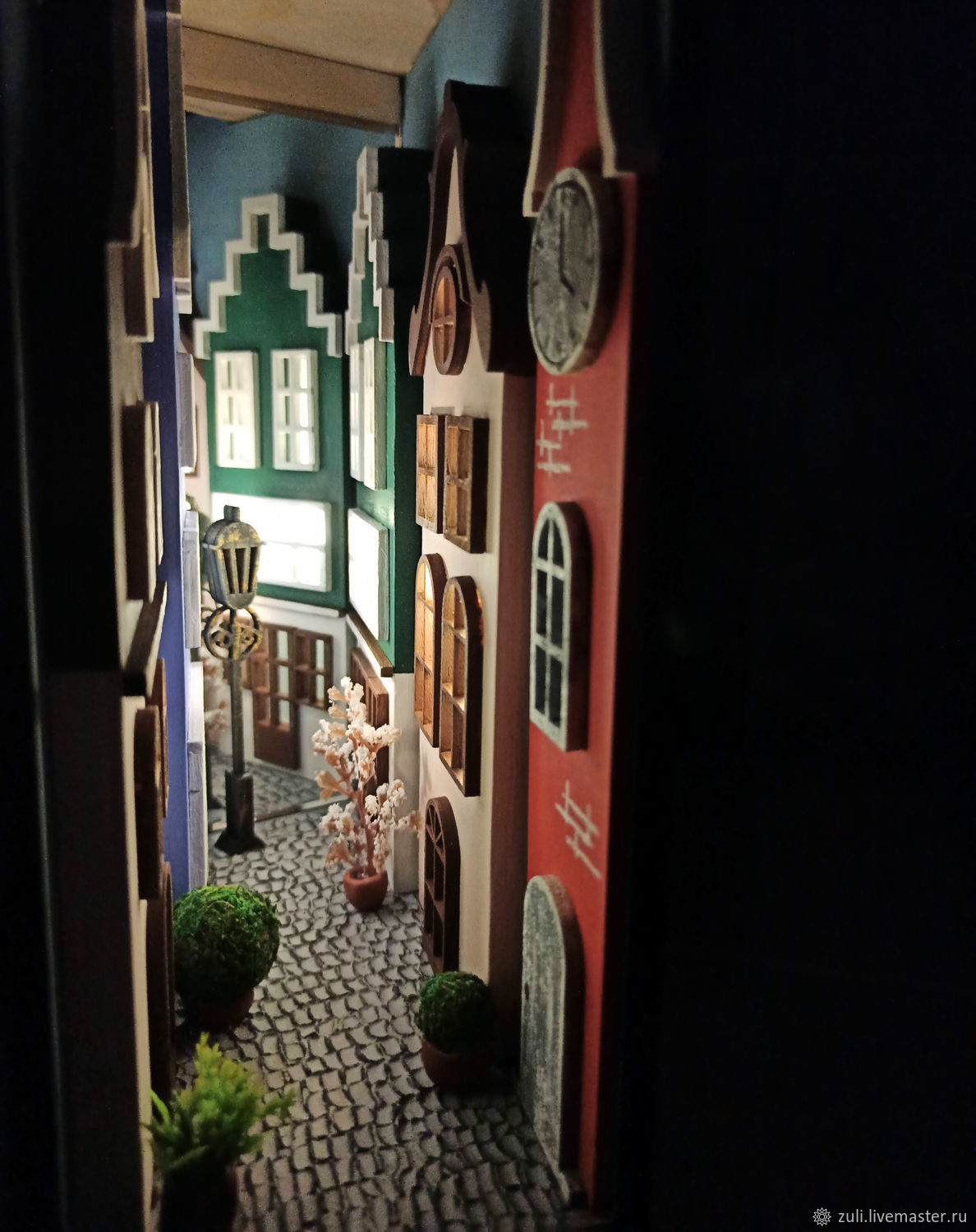 Miniature Insert between the books ' a Street in Holland', Table lamps, Podolsk,  Фото №1
