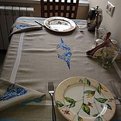 """Для дома и интерьера ручной работы. Ярмарка Мастеров - ручная работа Скатерть и полотенца """"NordBirds"""". Handmade."""