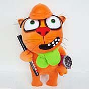 Куклы и игрушки handmade. Livemaster - original item Soft toy plush red cat Architect. Handmade.
