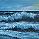 """Пейзаж ручной работы. Ярмарка Мастеров - ручная работа. Купить Картина маслом """"Стихия"""". Handmade. Море, морской пейзаж"""