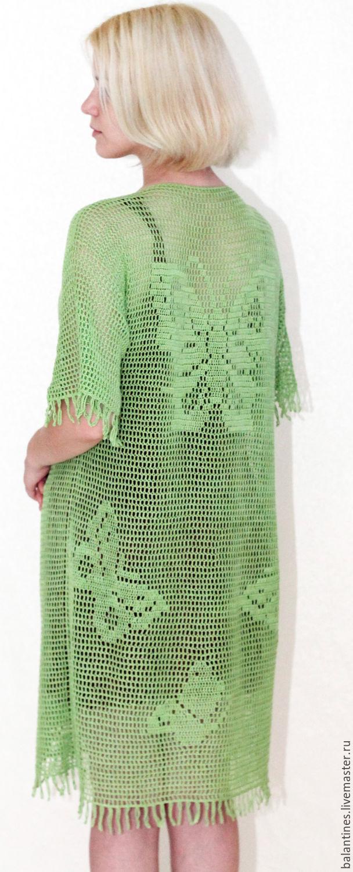 Платье с бабочками вязаное
