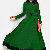 Одежда ручной работы. Ярмарка Мастеров - ручная работа платье зеленое. Handmade.