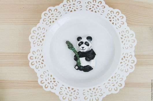 Броши ручной работы. Ярмарка Мастеров - ручная работа. Купить Брошь Панда. Handmade. Чёрно-белый, брошь, брошка